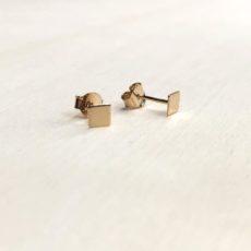boucles d'oreilles petits carrés en plaqué or