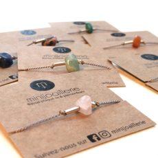 bracelet lien soie et pierre fine