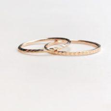 bagues anneaux plaqué or